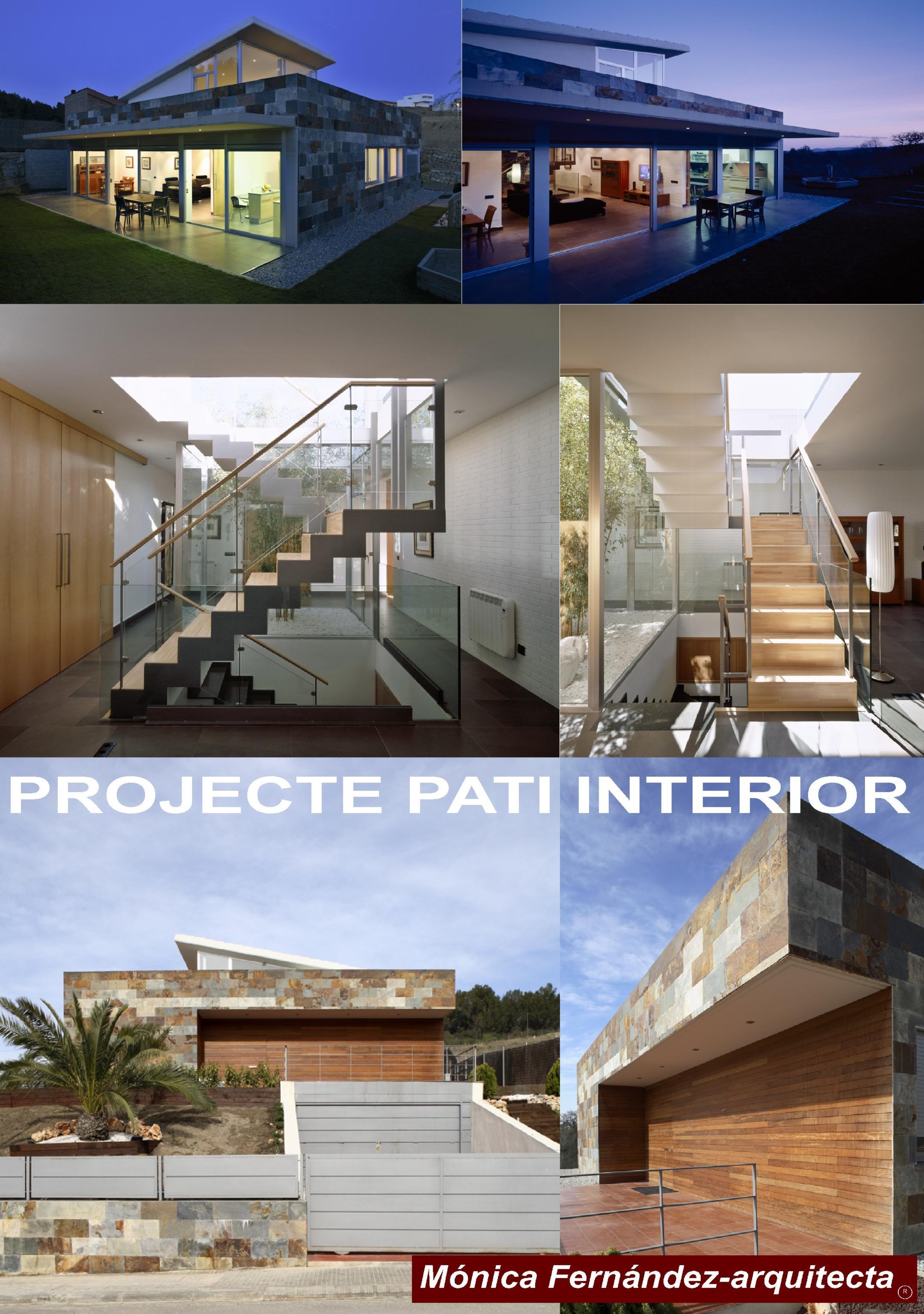 PROJECTE PATI INTERIOR Mónica Fernández-arquitecta